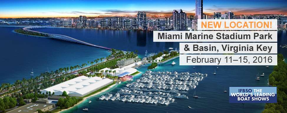 Boat show in miami stadium february