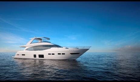 Princess 75 motor yacht miami dade charters