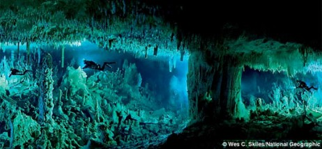 bahamas under water cave system