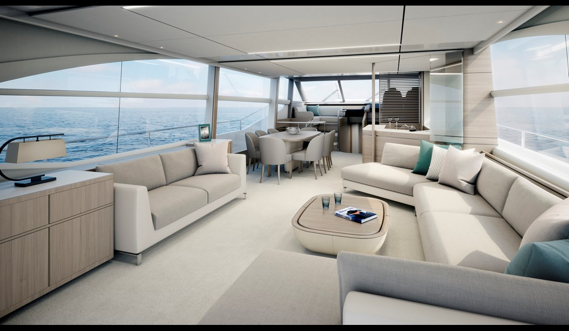 princess 75 motor yacht interior